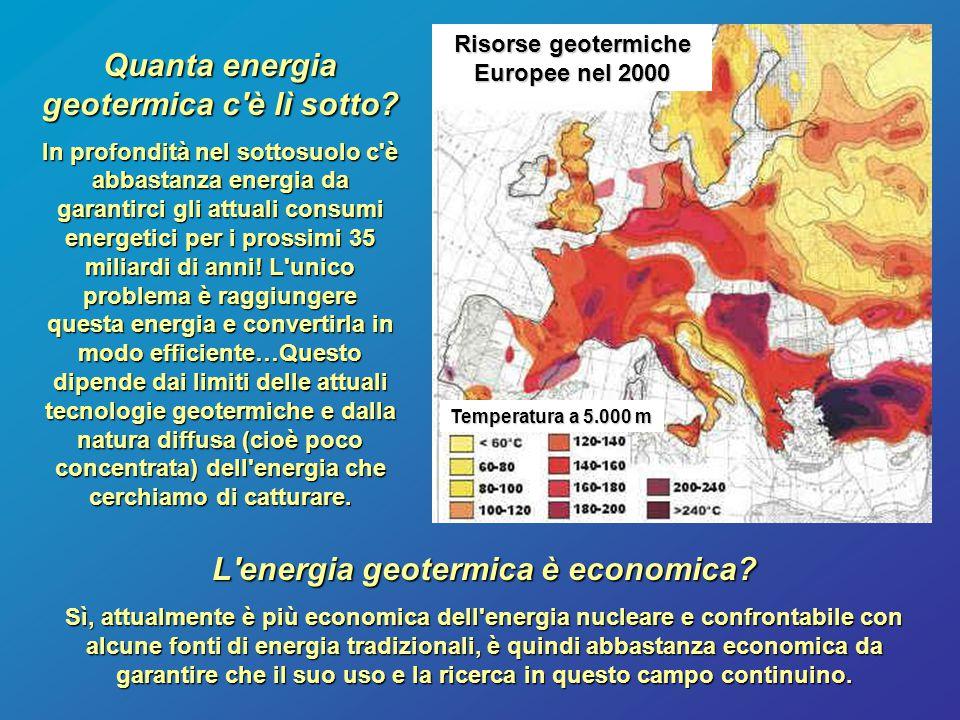 Quanta energia geotermica c è lì sotto