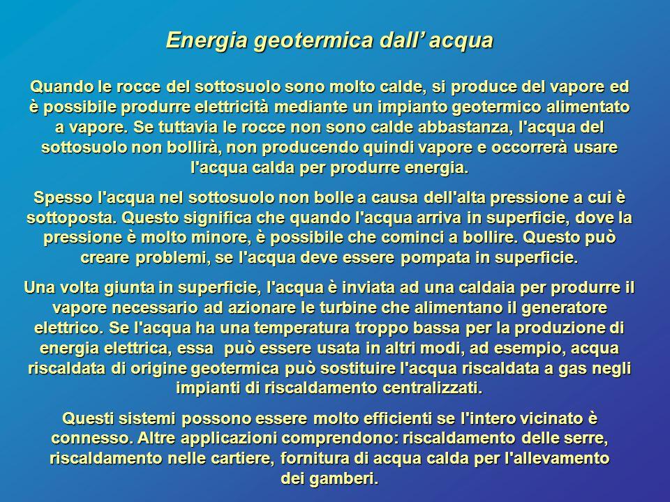 Energia geotermica dall' acqua