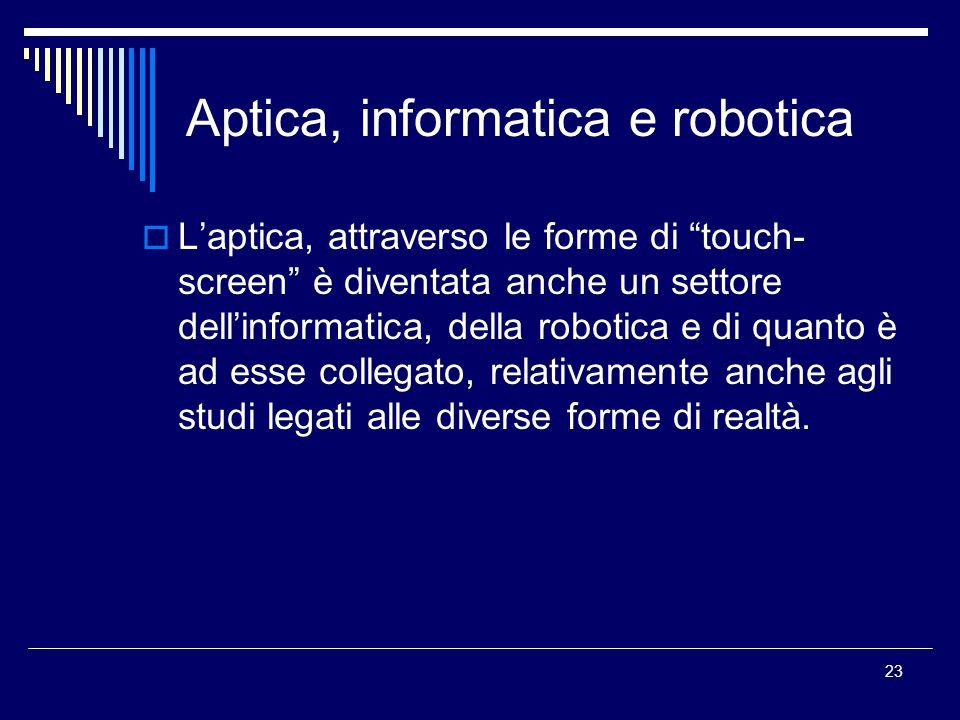 Aptica, informatica e robotica