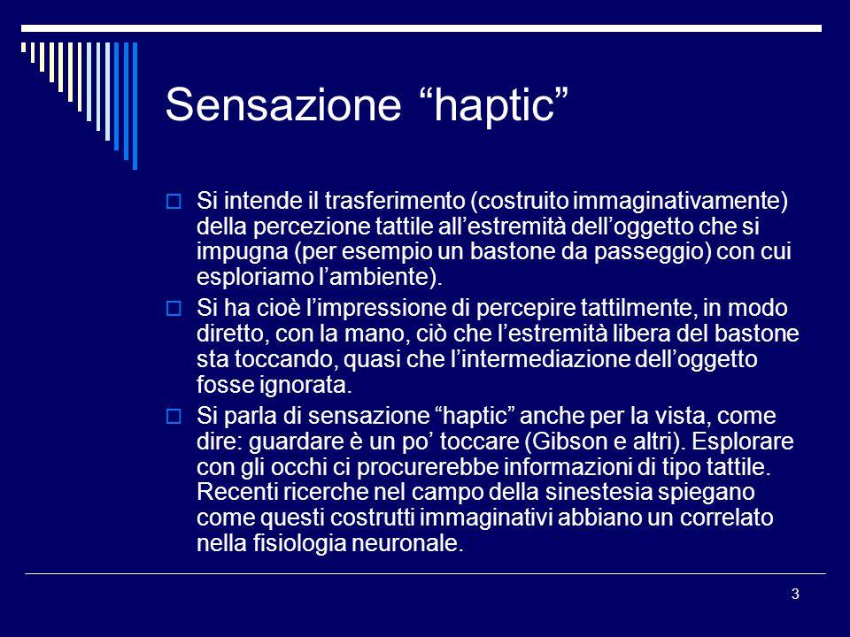 Sensazione haptic