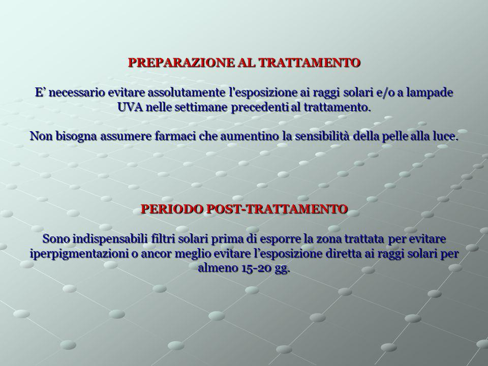 PREPARAZIONE AL TRATTAMENTO PERIODO POST-TRATTAMENTO