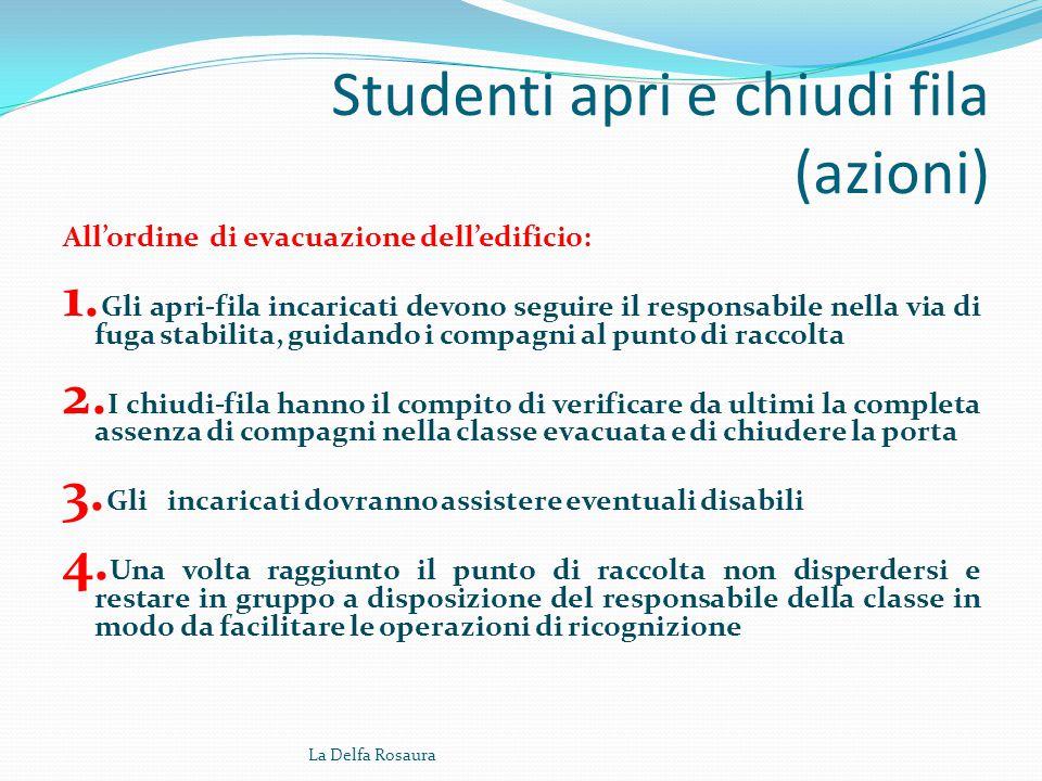 Studenti apri e chiudi fila (azioni)