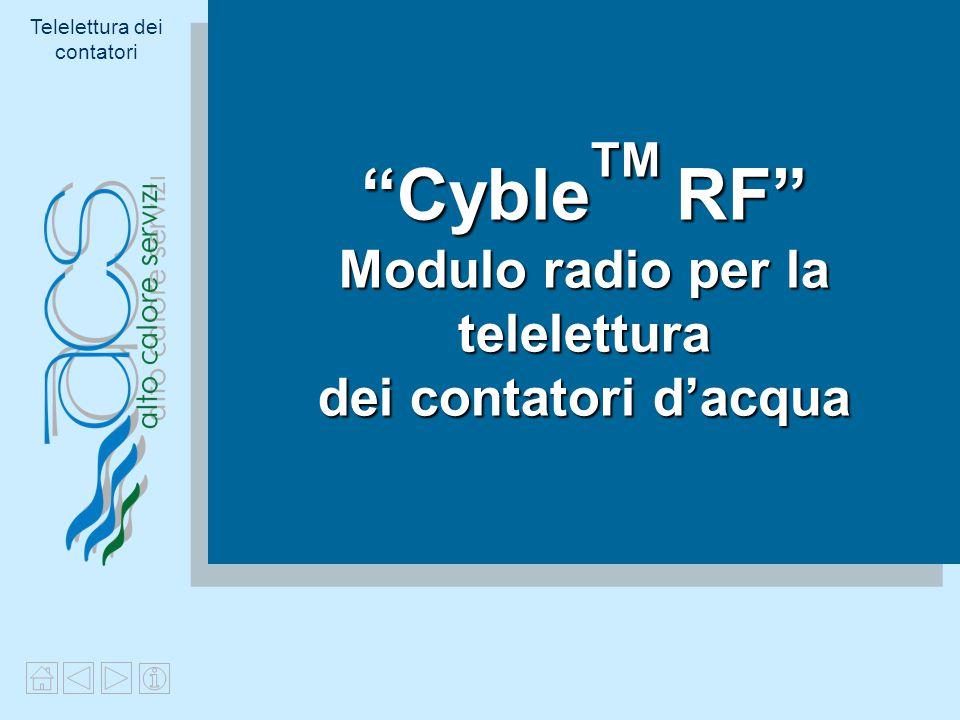 CybleTM RF Modulo radio per la telelettura dei contatori d'acqua