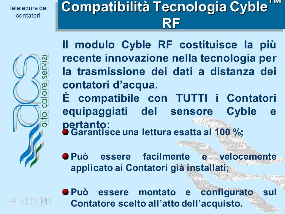 Compatibilità Tecnologia CybleTM RF