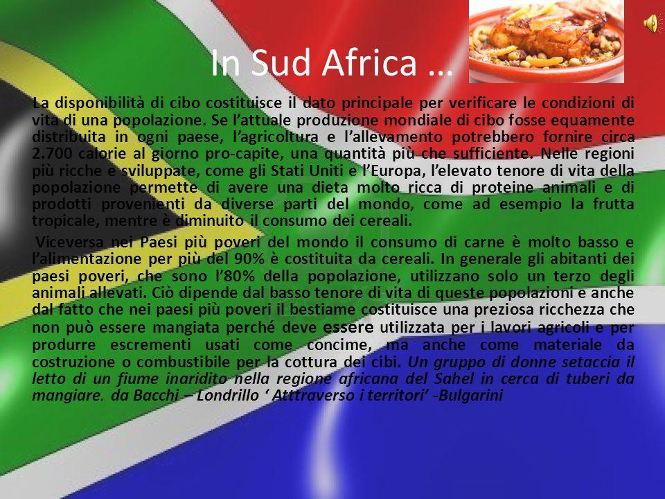 In Sud Africa …