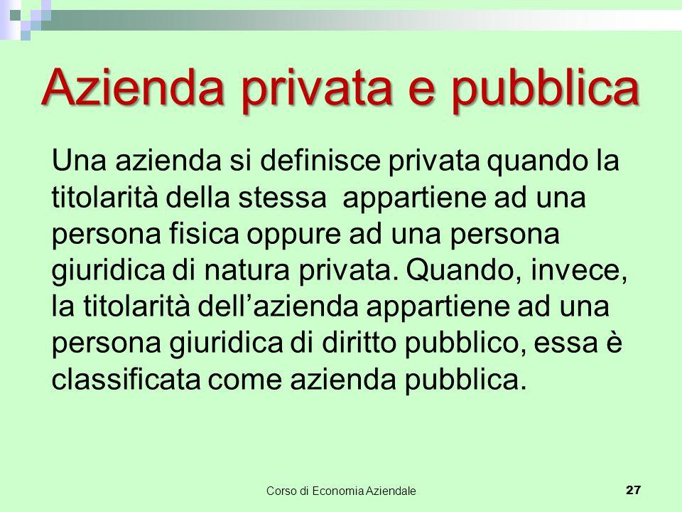 Azienda privata e pubblica