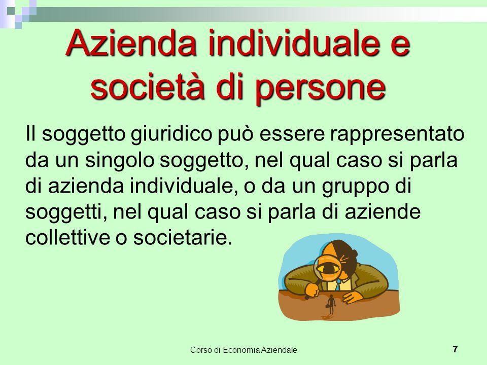 Azienda individuale e società di persone