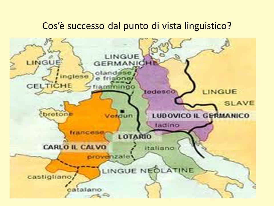 Cos'è successo dal punto di vista linguistico