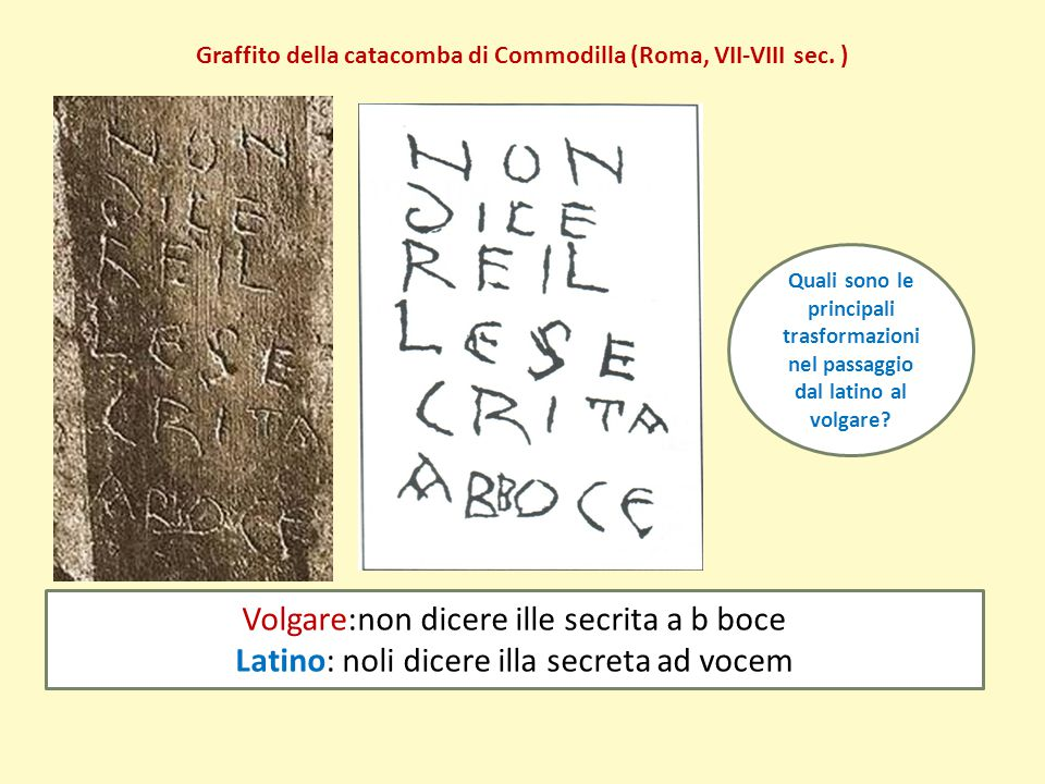 Graffito della catacomba di Commodilla (Roma, VII-VIII sec. )