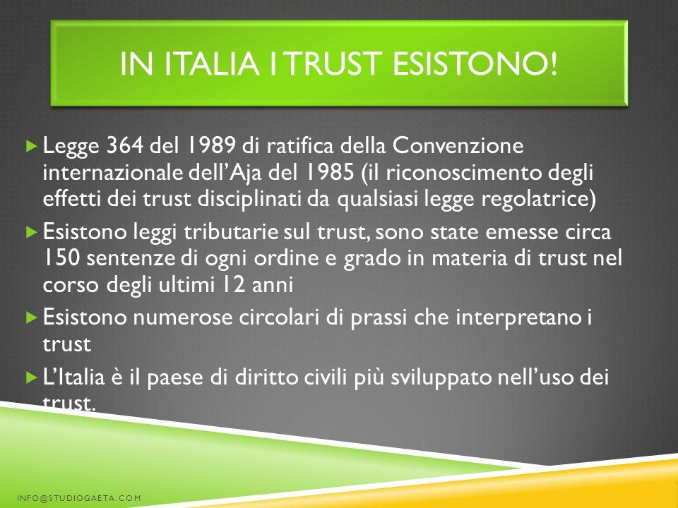 In italia i trust esistono!