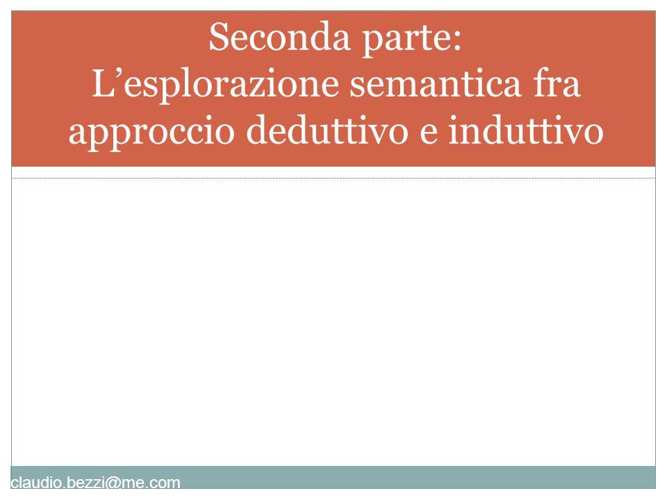 Seconda parte: L'esplorazione semantica fra approccio deduttivo e induttivo
