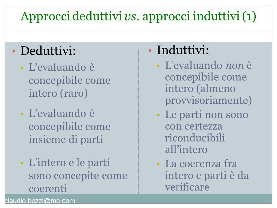 Approcci deduttivi vs. approcci induttivi (1)