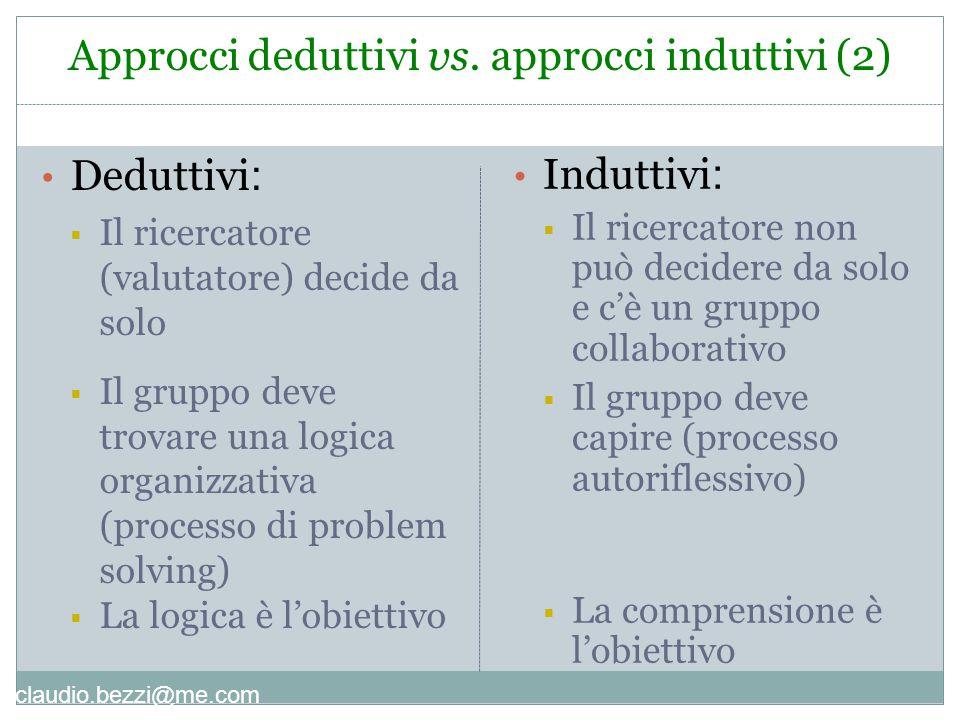 Approcci deduttivi vs. approcci induttivi (2)