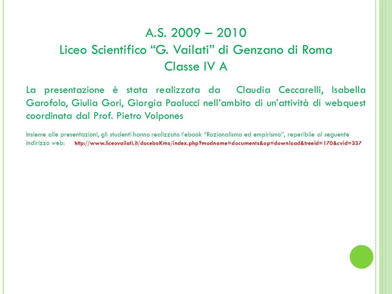 Liceo Scientifico G. Vailati di Genzano di Roma