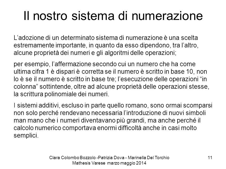 Il nostro sistema di numerazione