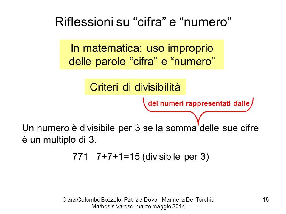 Riflessioni su cifra e numero