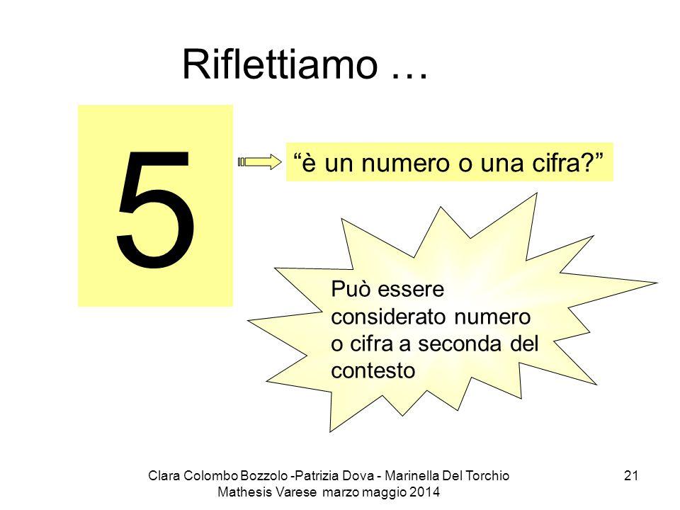 5 Riflettiamo … è un numero o una cifra