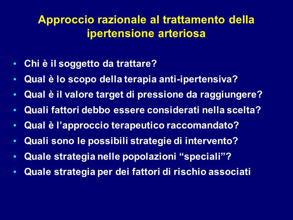 Approccio razionale al trattamento della ipertensione arteriosa