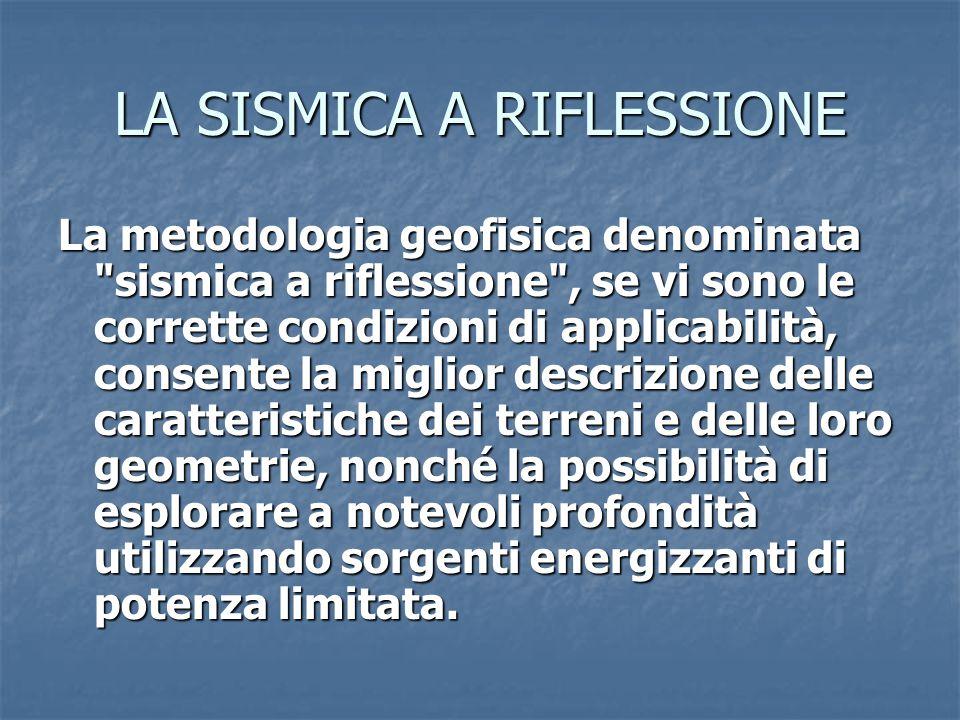 LA SISMICA A RIFLESSIONE