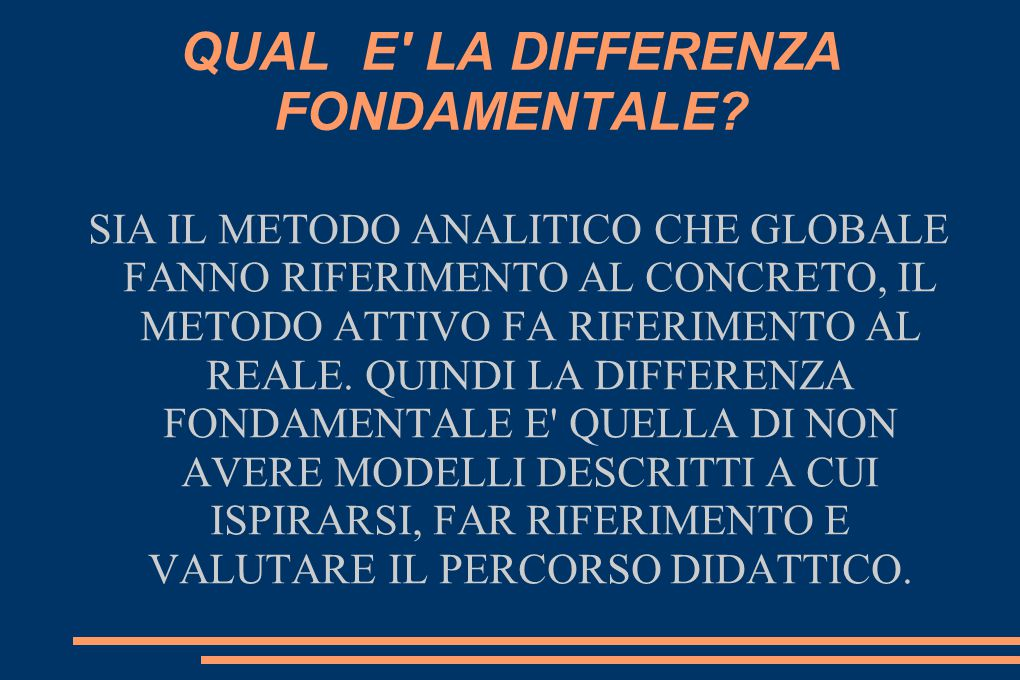 QUAL E LA DIFFERENZA FONDAMENTALE