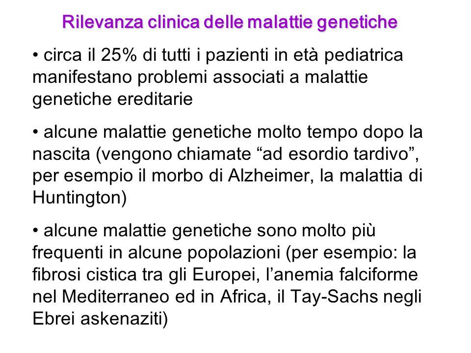 Rilevanza clinica delle malattie genetiche