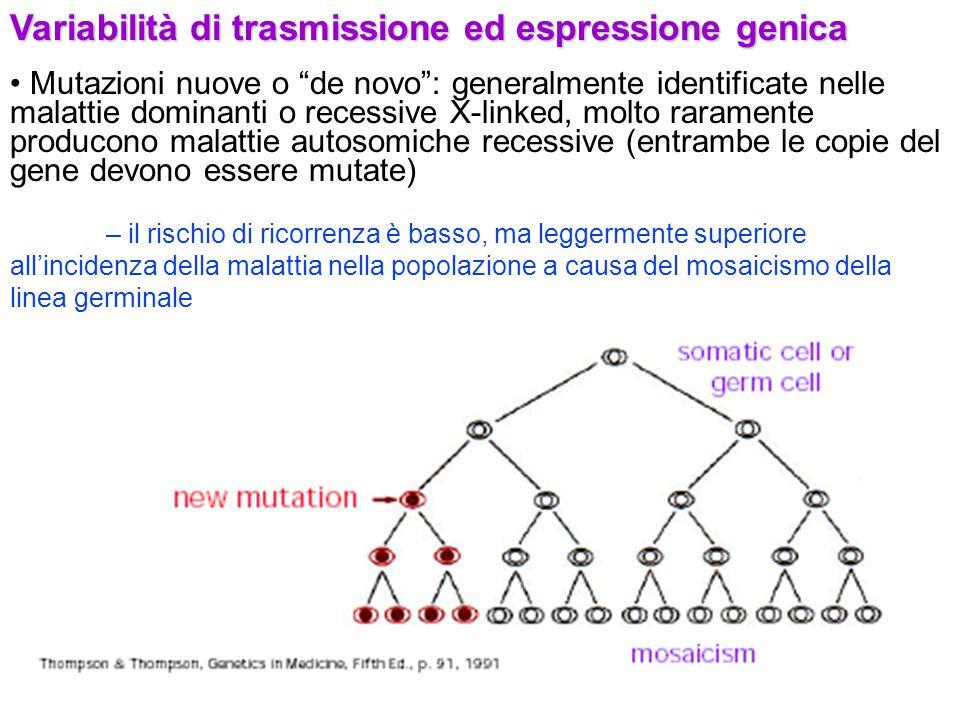 Variabilità di trasmissione ed espressione genica
