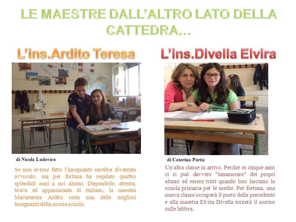 LE MAESTRE DALL'ALTRO LATO DELLA CATTEDRA…