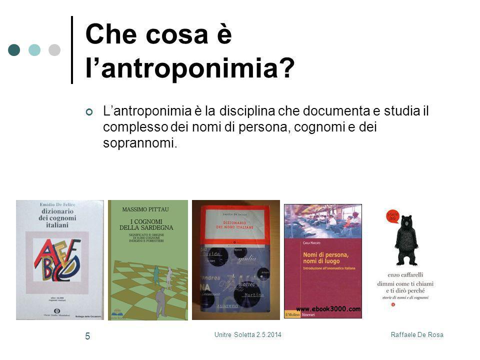 Che cosa è l'antroponimia