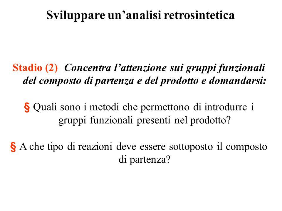 Sviluppare un'analisi retrosintetica