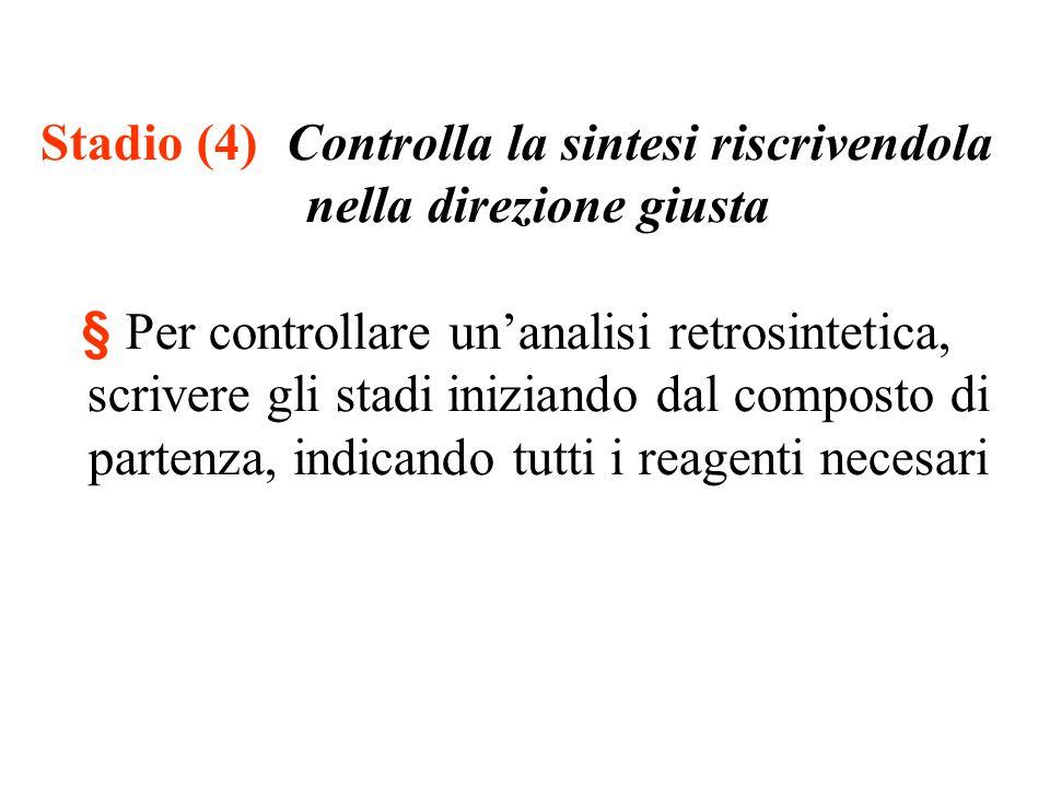 Stadio (4) Controlla la sintesi riscrivendola nella direzione giusta