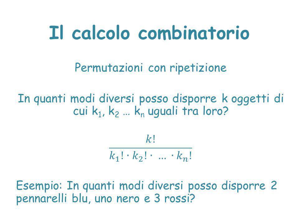Il calcolo combinatorio