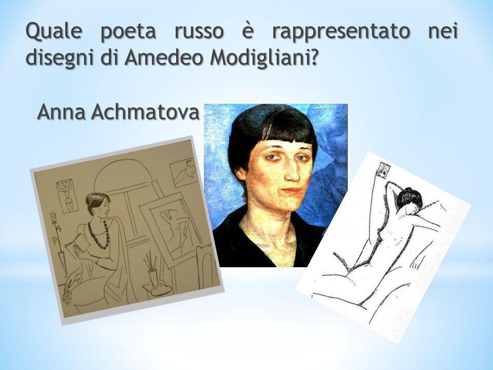 Quale poeta russo è rappresentato nei disegni di Amedeo Modigliani