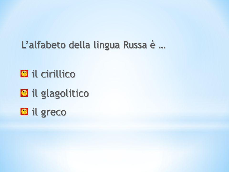 L'alfabeto della lingua Russa è …