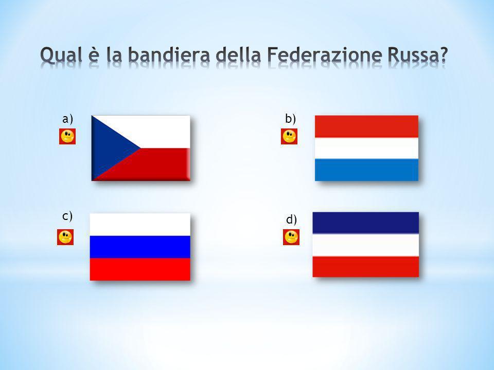 Qual è la bandiera della Federazione Russa