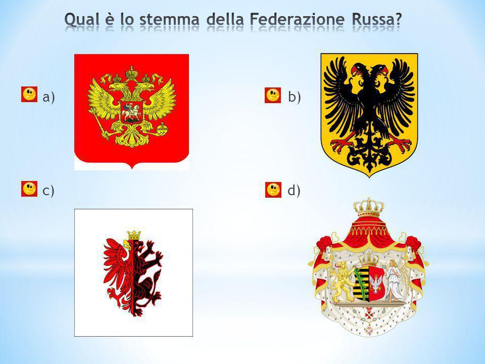 Qual è lo stemma della Federazione Russa