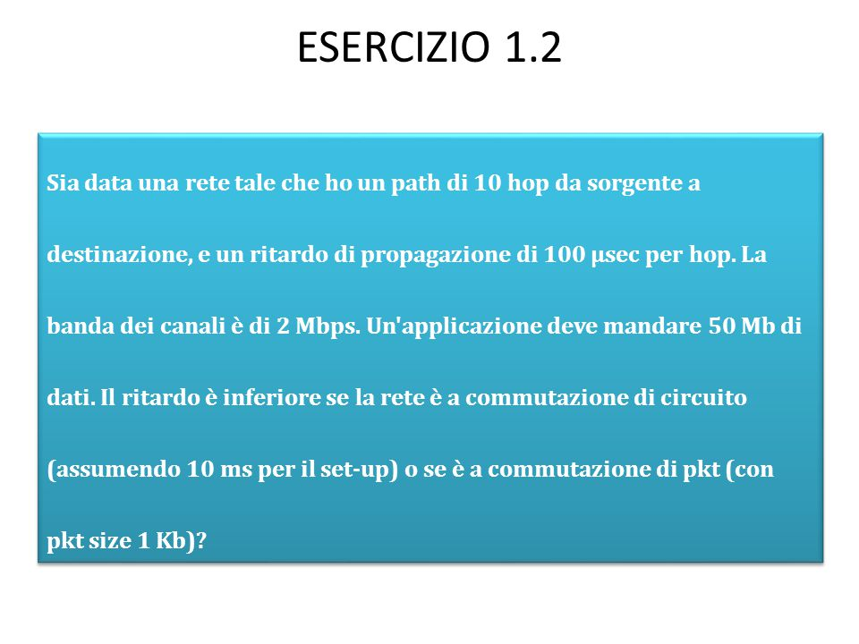 ESERCIZIO 1.2