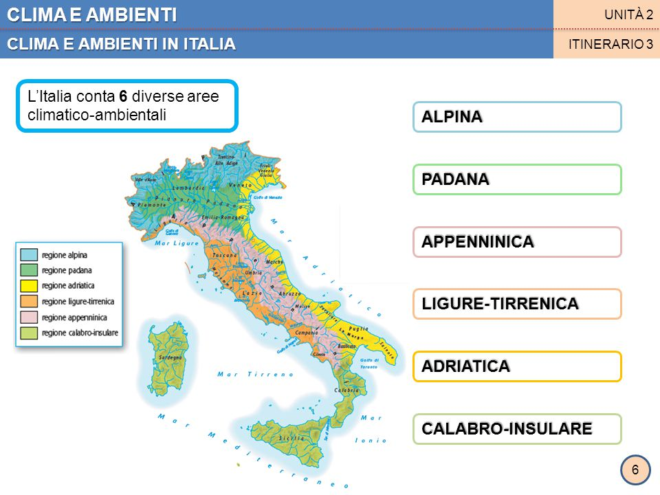 CLIMA E AMBIENTI CLIMA E AMBIENTI IN ITALIA ALPINA PADANA APPENNINICA
