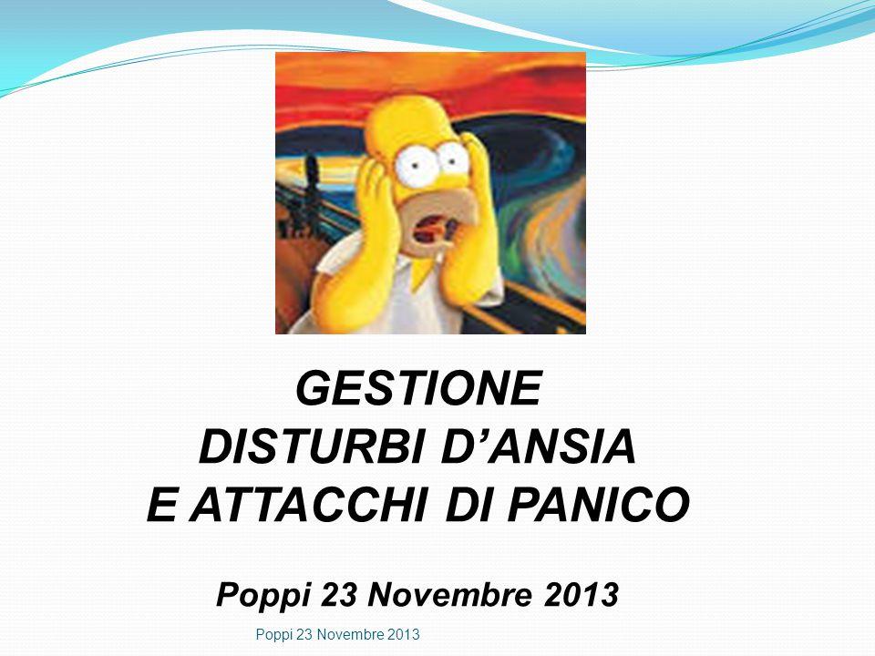 GESTIONE DISTURBI D'ANSIA E ATTACCHI DI PANICO