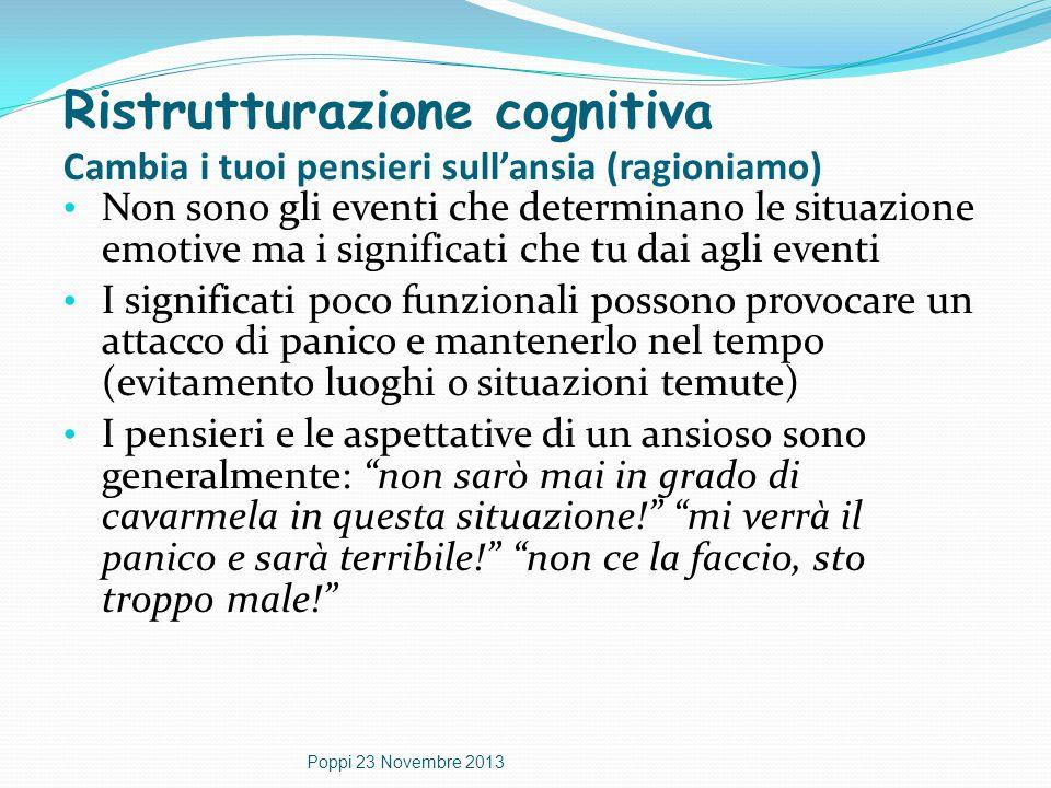 Ristrutturazione cognitiva Cambia i tuoi pensieri sull'ansia (ragioniamo)