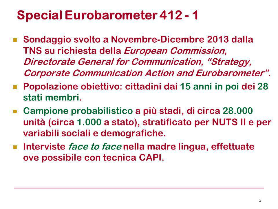 Special Eurobarometer 412 - 1
