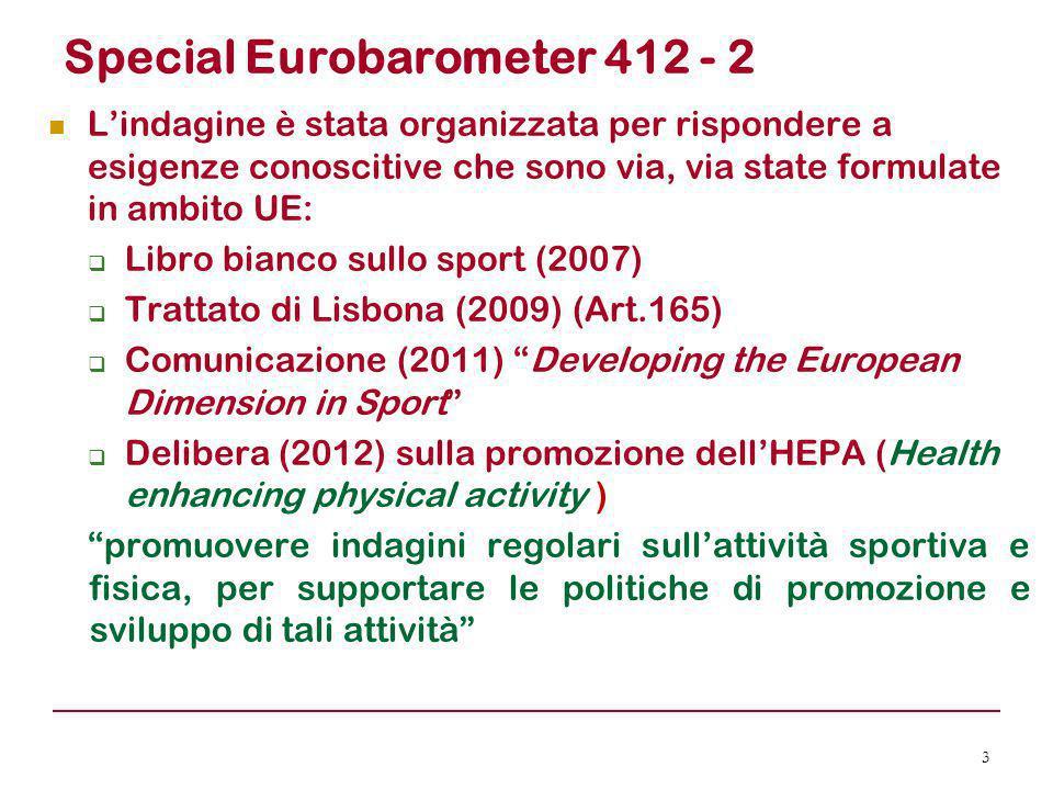 Special Eurobarometer 412 - 2