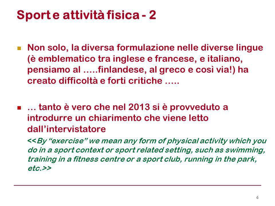 Sport e attività fisica - 2