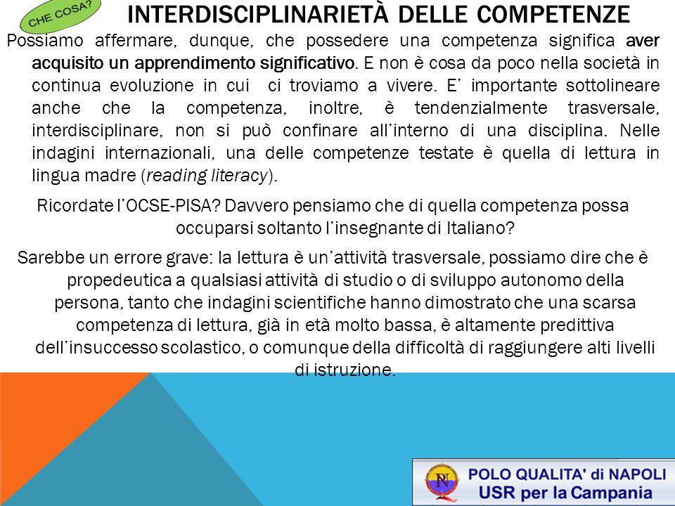 Interdisciplinarietà delle competenze