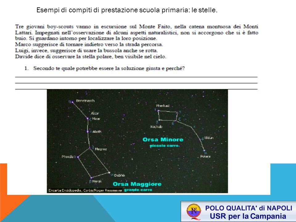 Esempi di compiti di prestazione scuola primaria: le stelle.
