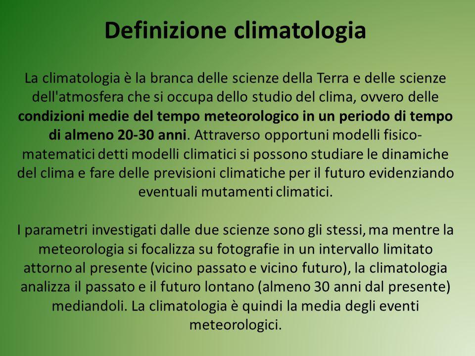 Definizione climatologia
