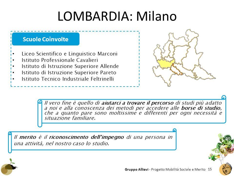 LOMBARDIA: Milano Scuole Coinvolte