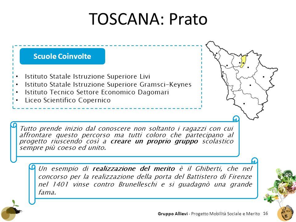 TOSCANA: Prato Scuole Coinvolte