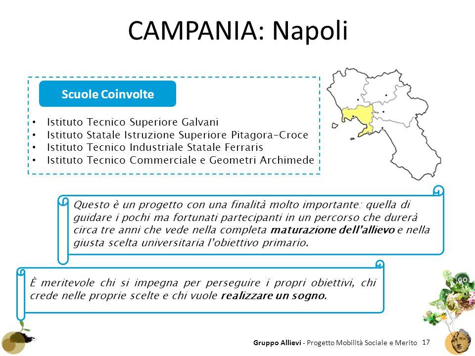 CAMPANIA: Napoli Scuole Coinvolte Istituto Tecnico Superiore Galvani