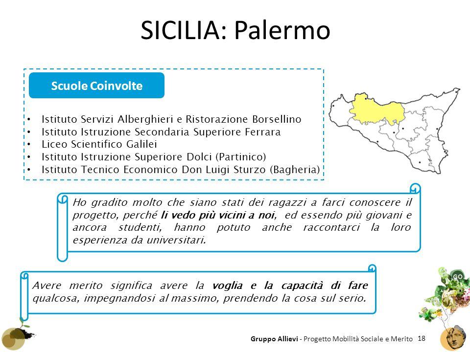 SICILIA: Palermo Scuole Coinvolte
