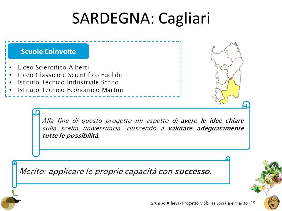 SARDEGNA: Cagliari Scuole Coinvolte